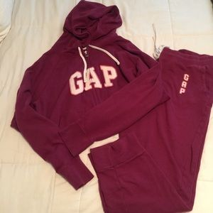 GAP hooded sweat jacket and sweat pants